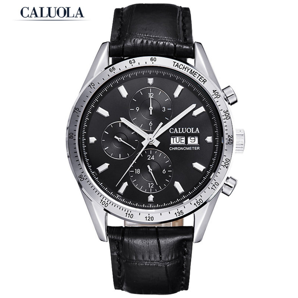 Caluola Automatic Watch Sport Day-Date Month 24-Hour Luminous Fashion Men Watch CA1120M