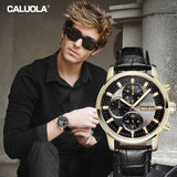 Caluola Sport Watch Automatic Day-Date 24-Hour Month Men Watch Fashion CA1121M
