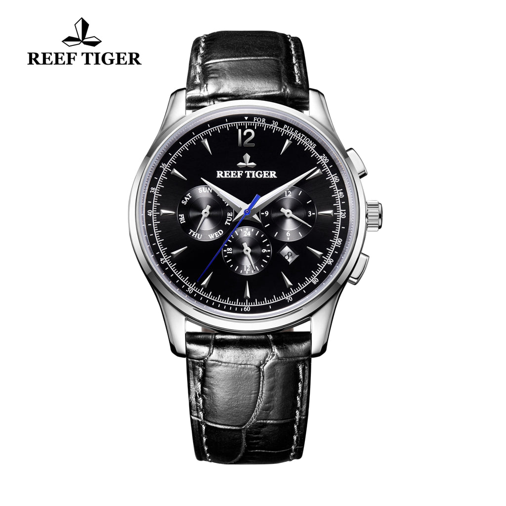 Reef Tiger Casual Fashion Steel Leather Strap Mens Watch RGA1654