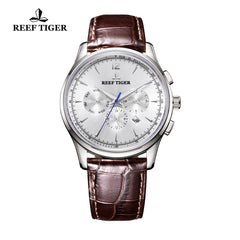 Reef Tiger Fashion Steel Leather Strap Mens Automatic Watch RGA1654