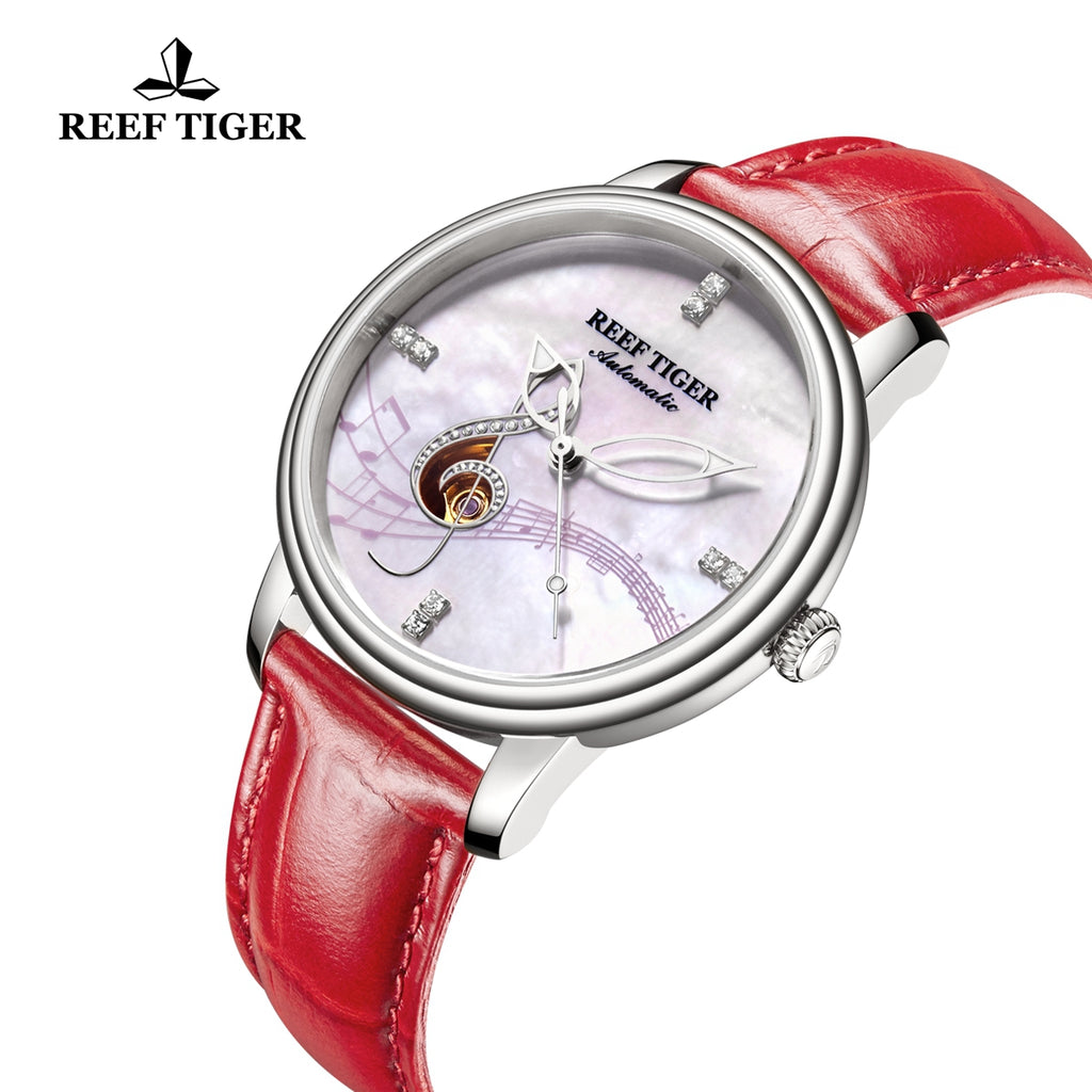 Reef Tiger Casual Fashion Steel Leather Strap Womens Watch RGA1582