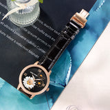 Reef Tiger Love Bee Fashion Men Rose Gold Genuine Leather Strap Automatic Watches RGA1585-PBB