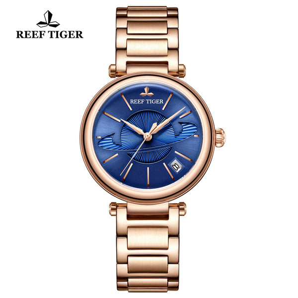 Reef Tiger Love Saturn Fashion Women Rose Gold Automatic Watches RGA1591-PLP
