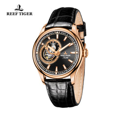 Reef Tiger Skeleton Tourbillon Analog Automatic Watches RGA1639-PBB