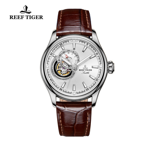 Reef Tiger Classic Tourbillon Skeleton Mechanical Watch RGA1639-YWB