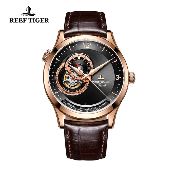 Reef Tiger Luxury Men's Watch with Tourbillon Analog Automatic Watches RGA1693