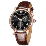 Reef Tiger Mens Rose Gold Multi Subdial Automatic Watches RGA1978