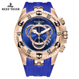 Reef Tiger Aurora Hercules II Mens Fashion Rose Gold Black Dial Quartz Watch RGA303-2-PBB