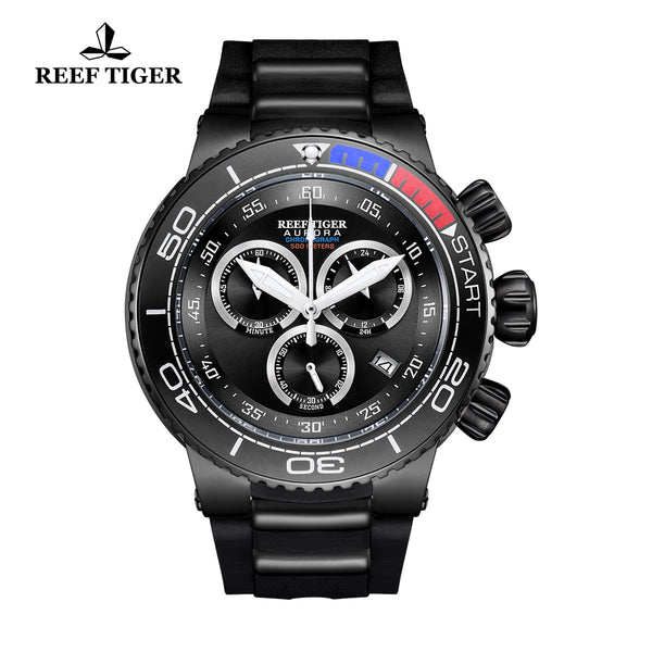 Reef Tiger Fashion Luxury Black PVD Watches RGA3168
