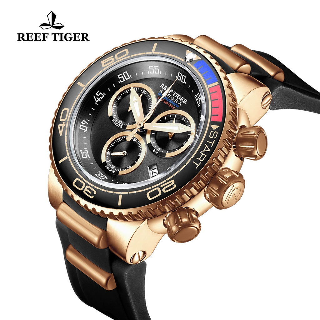 Reef Tiger Casual Fashion Mens Rose Gold Watches RGA3168