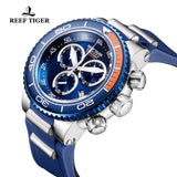 Reef Tiger Fashion Casual Mens Blue Steel Watches RGA3168