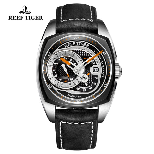 Reef Tiger Aurora Pioneer Fashion PVD/Steel Black Dial Automatic Men Watches RGA3319-TBBO