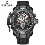 Reef Tiger Mens Masculine Rubber Strap Automatic Sport Watch RGA3591