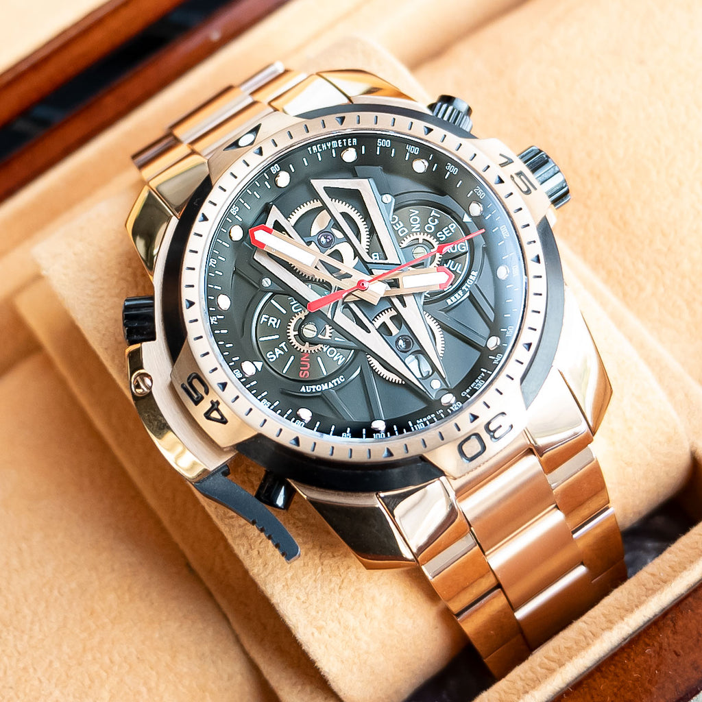 Reef Tiger Mens Masculine Automatic Complicated Watch RGA3591