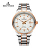 Reef Tiger Dress Luminous Date Rose Gold Steel White Dial Watches RGA8015
