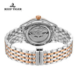 Reef Tiger Dress Blue Dial Stainless Steel Rose Gold Tone Automatic RGA823G