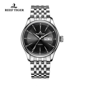 Reef Tiger Business Steel Black Dial Watch RGA8232