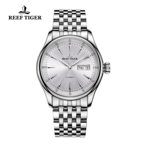 Reef Tiger Business Steel White Dial Watch RGA8232