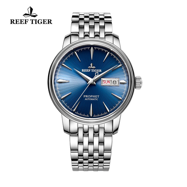 Reef Tiger Fashion Dress Mens Steel Blue Dial Watch with Date RGA8236