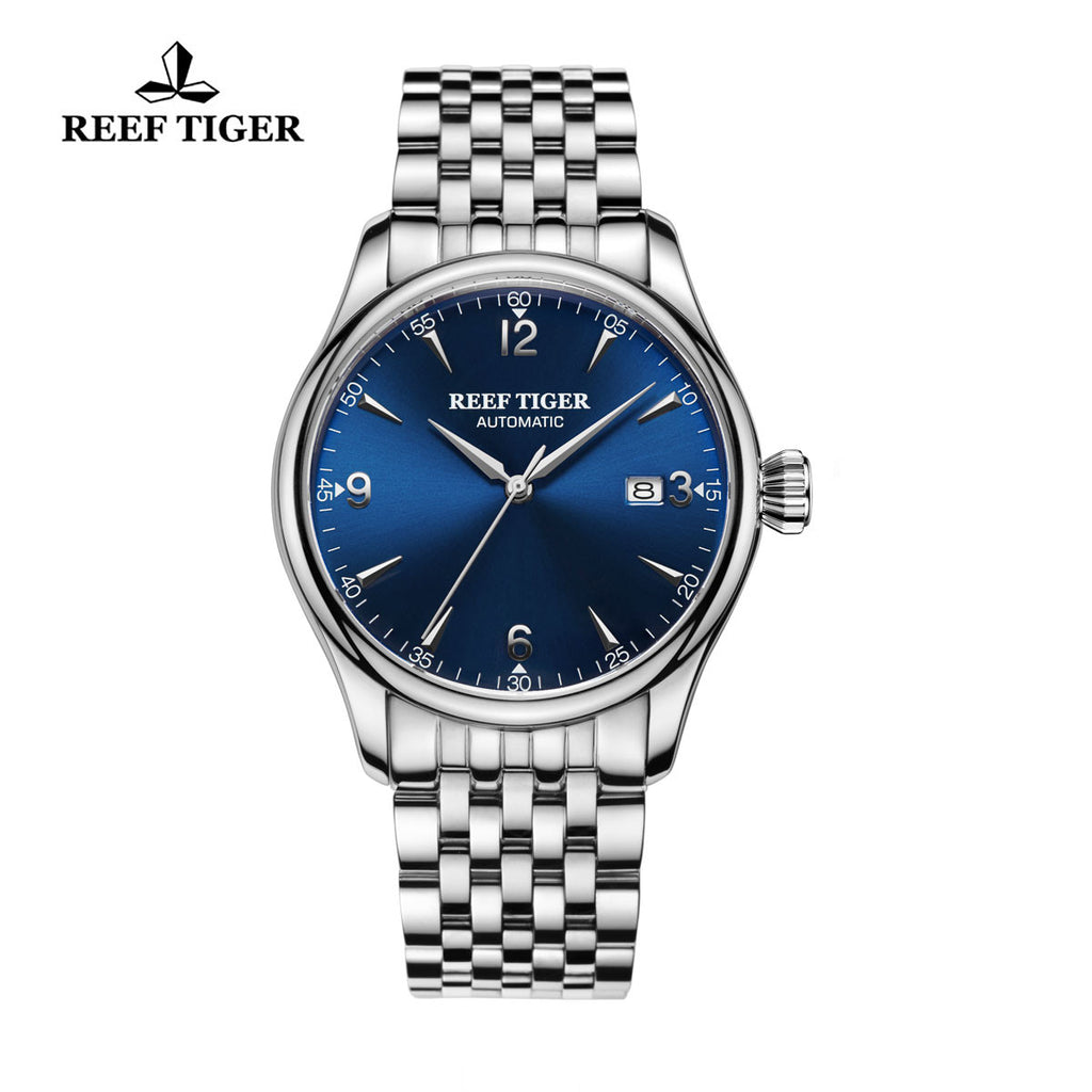 Reef Tiger Automatic Blue Dial Full Stainless Steel Watches RGA823G