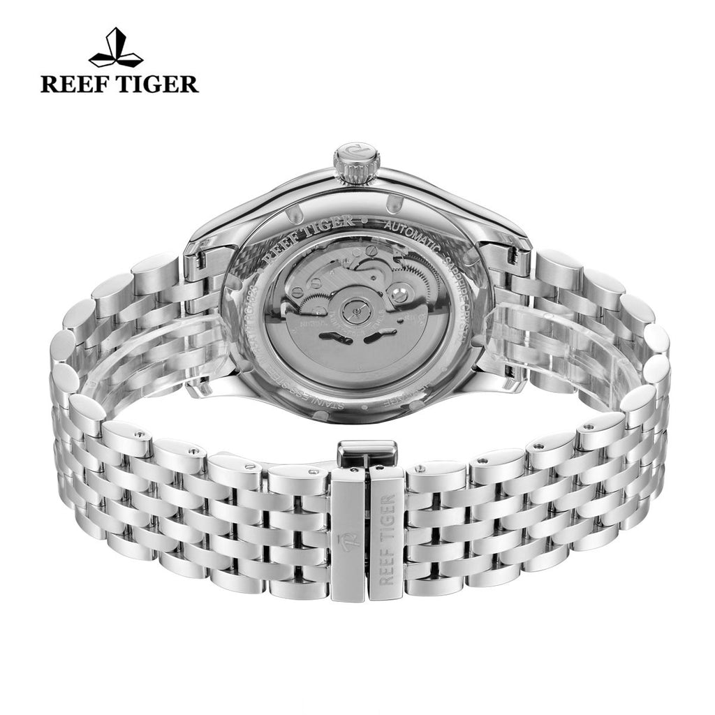 Reef Tiger Automatic White Dial Full Stainless Steel RGA823G
