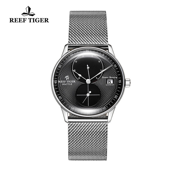 Reef Tiger Mens Dress Watches Steel Bracelet Automatic 48 Hours Power Reserve RGA82B0-YBY