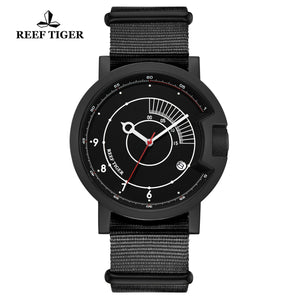 Reef Tiger 1980S Limited Edition Fashion Men PVD Black Dial Automatic Watches RGA9035-BBB