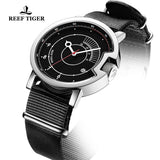 Reef Tiger 1980S Limited Edition Fashion Men Steel Black Dial Automatic Watches RGA9035-YBB