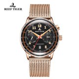 Reef Tiger Limited Edition Respect Luxury Men Rose Gold Black Dial Automatic Watches RGA9122-PBPO