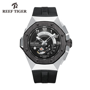 Reef Tiger Steel Automatic Mechanical Sport Watches Mens Watach RGA92s7