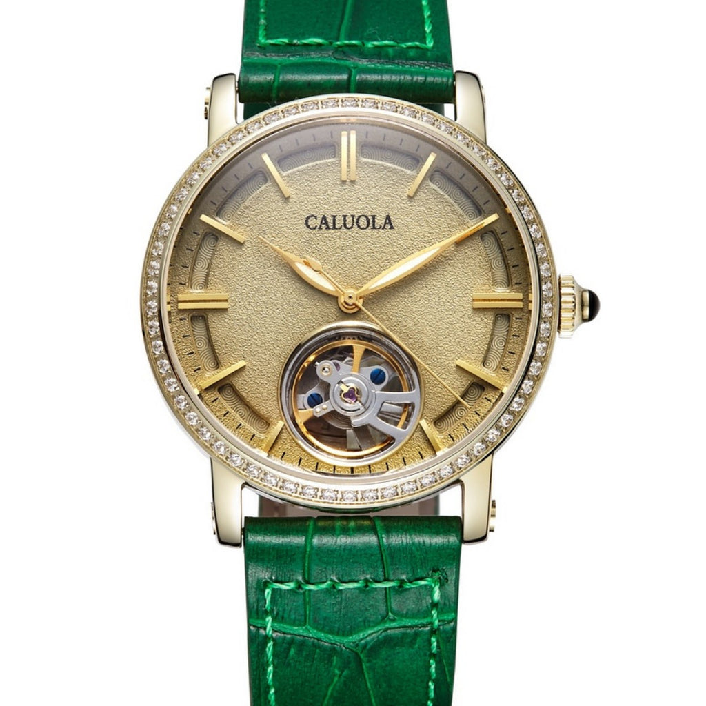 Caluola Women Watch Automatic Fashion Casual Skeleton Watch CA1115M-2