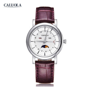 Caluola Women Watch Quartz Watch With MoonPhase Day Month Fashion Watch CA1174GL