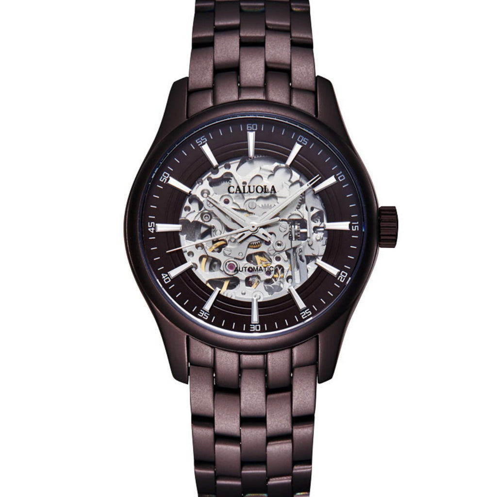 Caluola Exquisite Men Watch Automatic Fashion Skeleton Dial Design CA1132MM