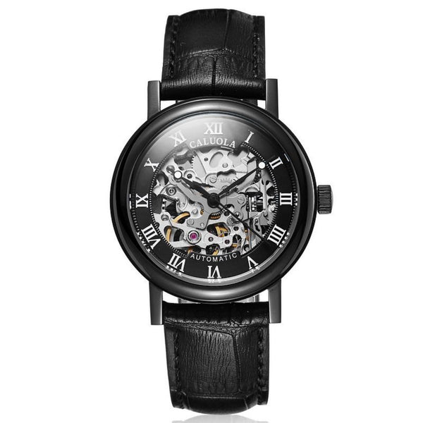 Caluola Women Watch Automatic Skeleton Dial Fashion Watch CA1089MM