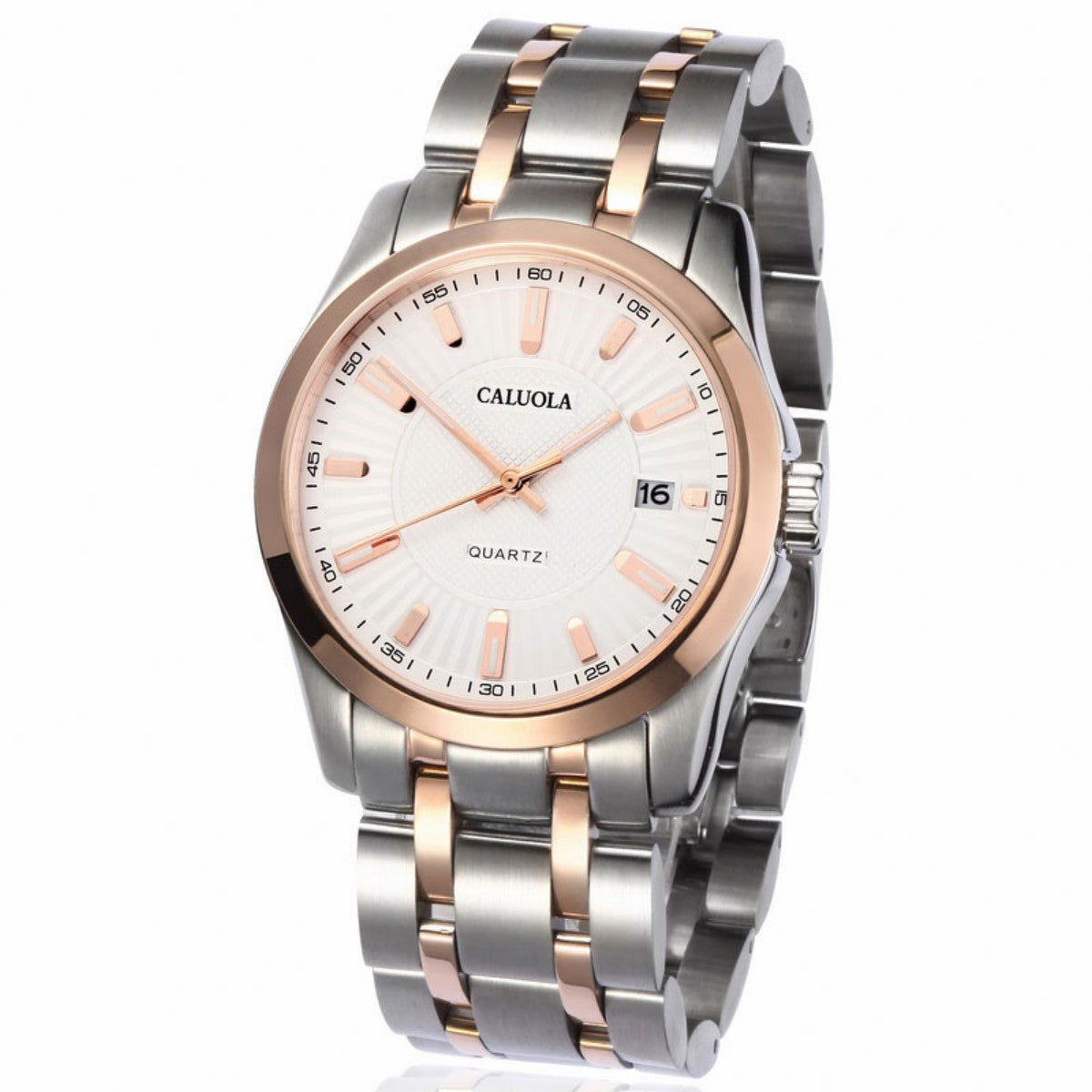 Caluola Fashion Sport Watches Mens Quartz Watch with Date CA1005G