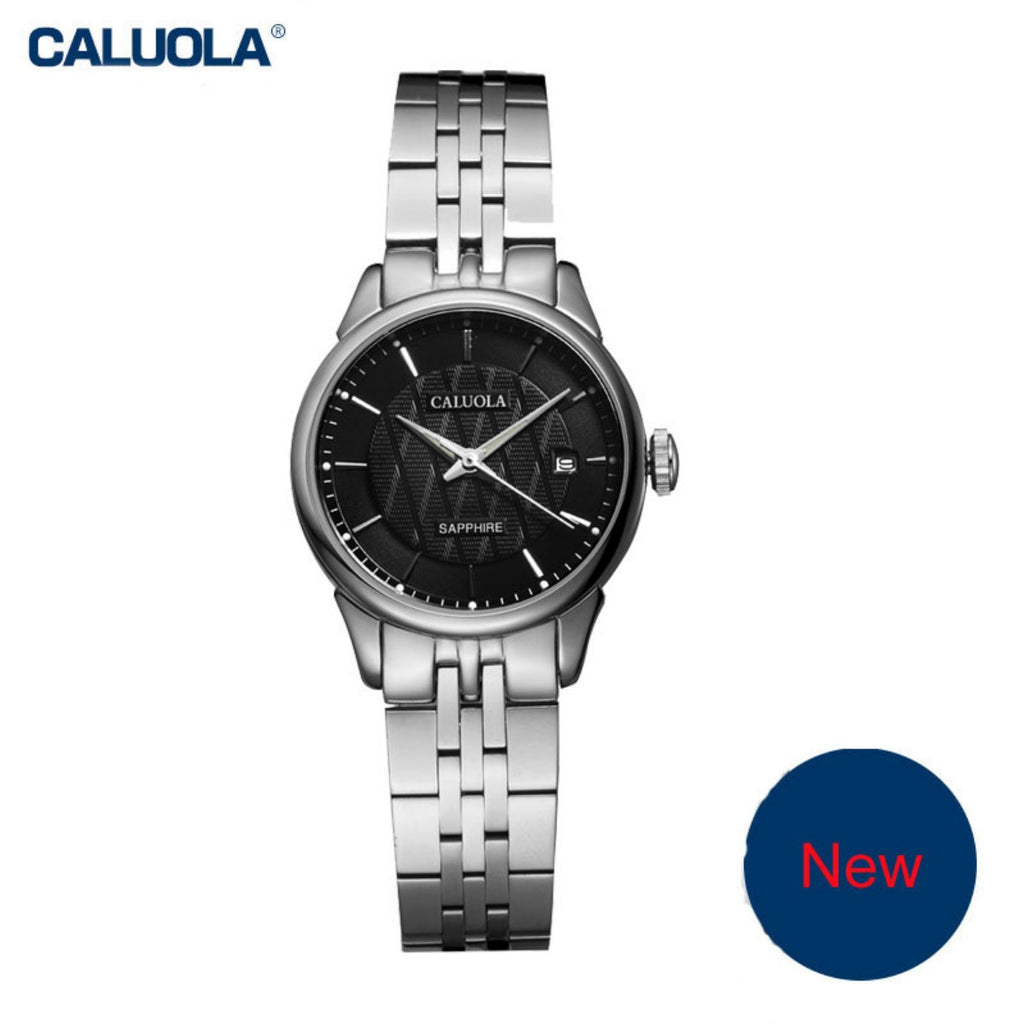 Caluola Women Watch Quartz Business Date Casual Watches Steel CA1022G