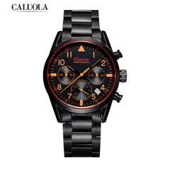 Caluola Quartz Watch Date Chronograph Women Watch 24-Hour Fashion CA1152L