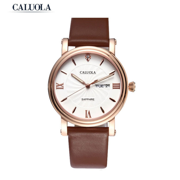 Caluola Business Quartz Watch Men Day-Date Luminous Watch Simple CA1063L