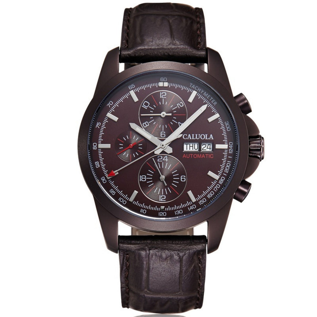 Caluola Men Watch Automatic Watch With Day-Date Month Year 24-Hour Business CA1106M