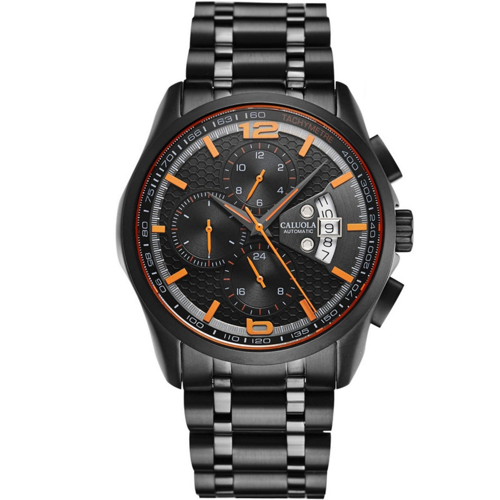 Caluola Automatic Watch Fashion 24-Hour Calendar Watch for Men CA1168M1