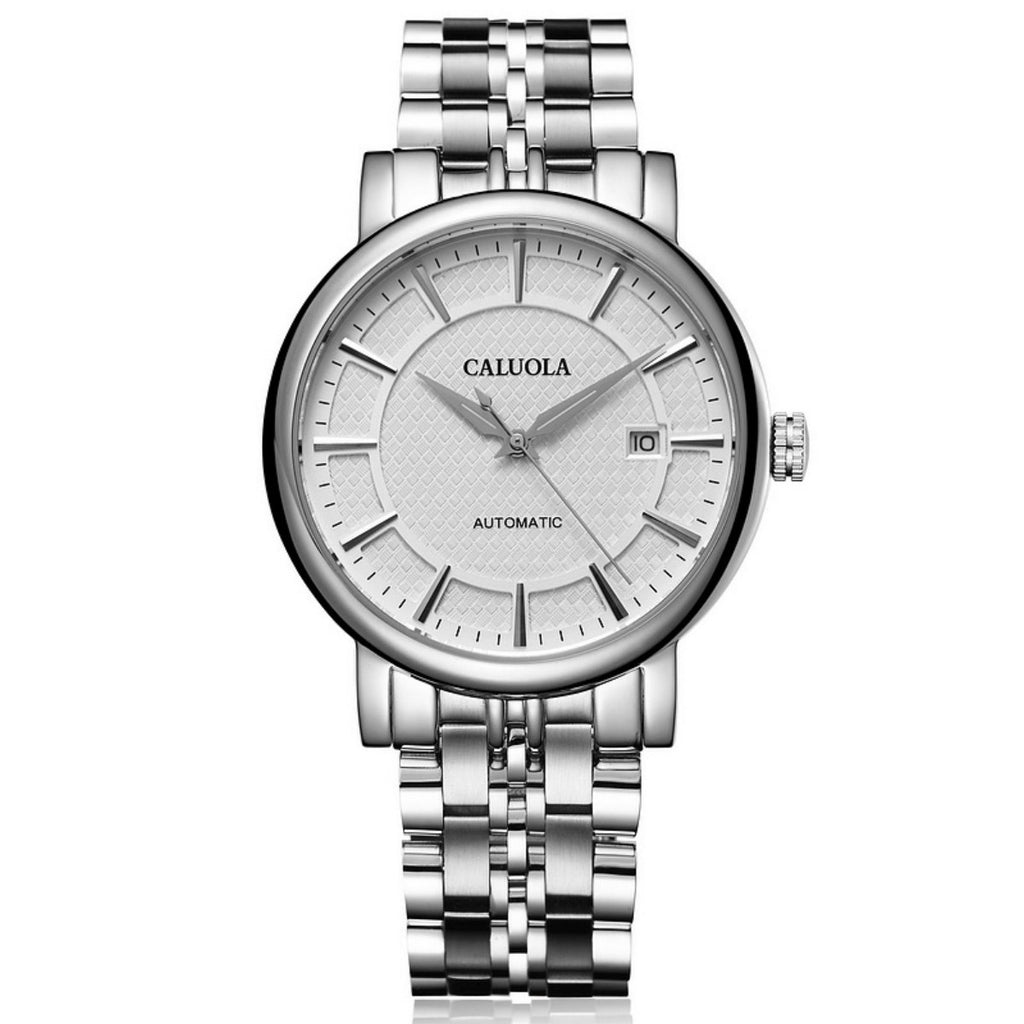 Caluola Automatic Watch Date Men Watch Business Watch Leather Strap Watch CA1205MM