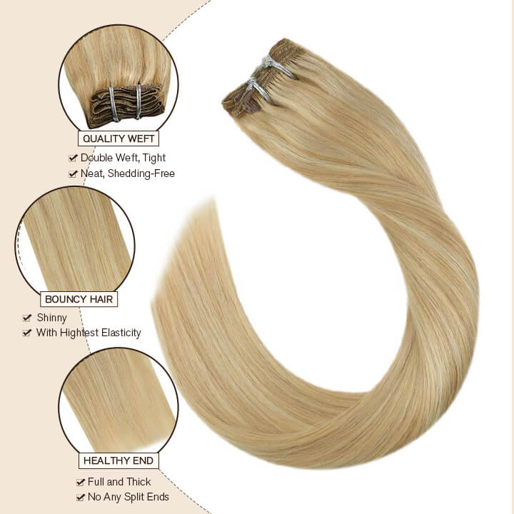 clip in hair extensions best clip thick