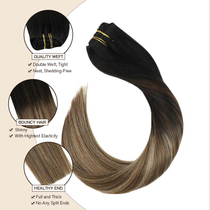 Ugeat clip in hair extensions 10 pcs