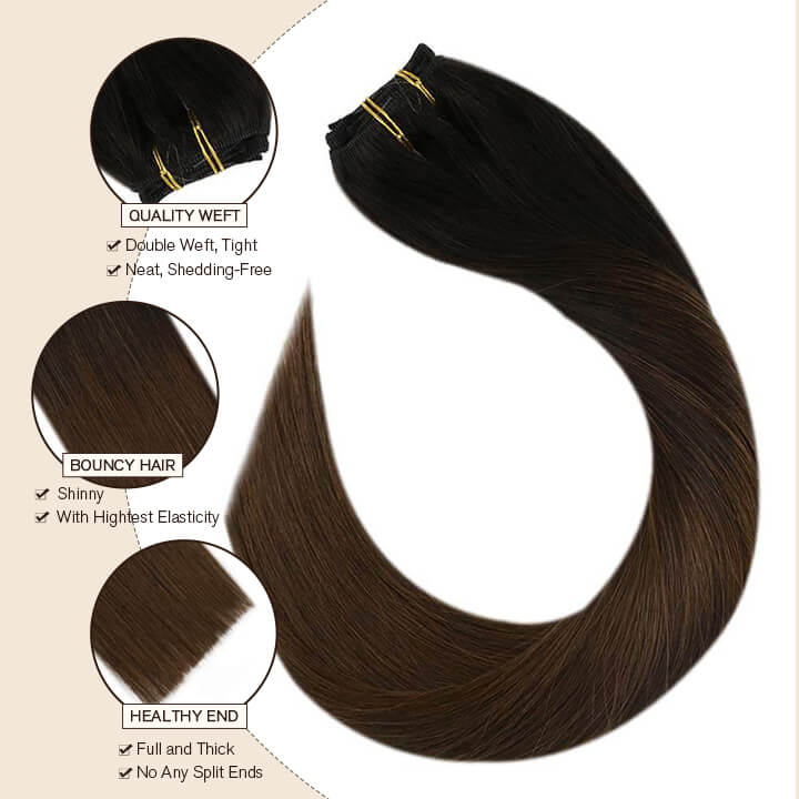 clip in hair extension 7 pcs