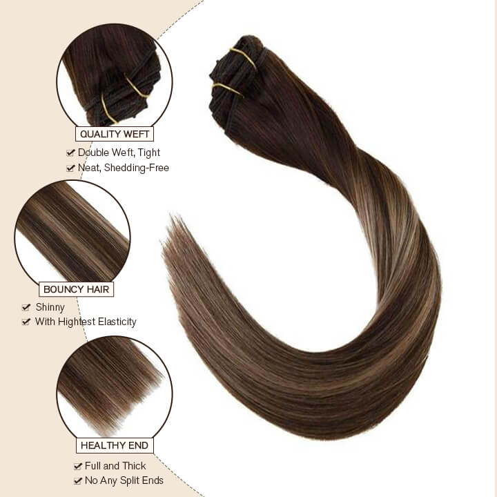 clip in hair extension 10 pcs