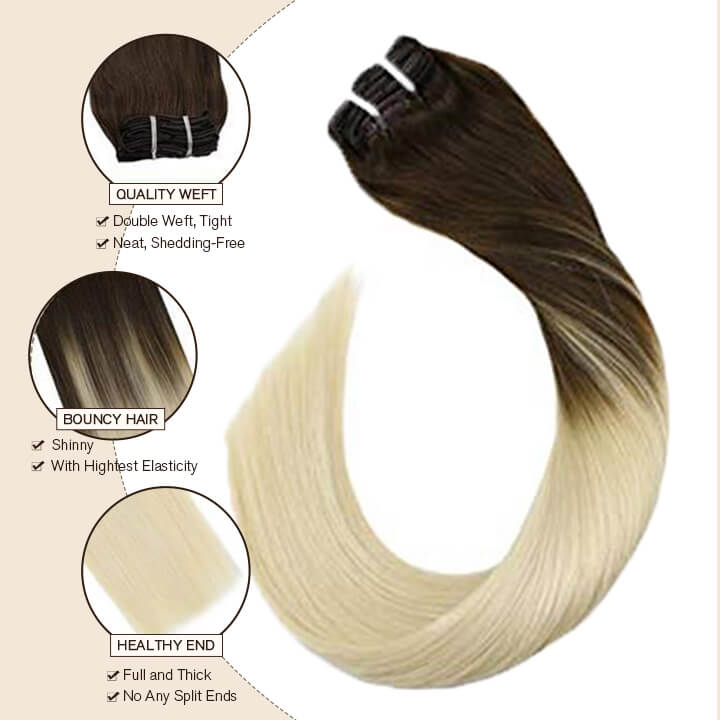 clip in hair extension blonde