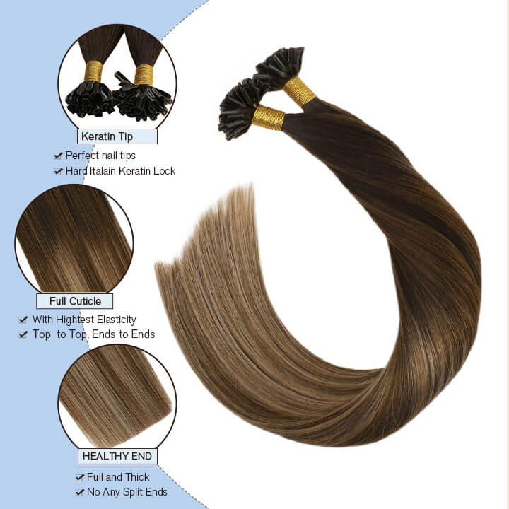 U Tip hair extension