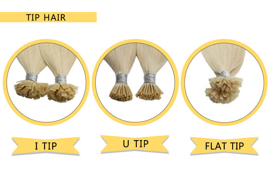 What is the difference between the three types of Pre-bonded hair?