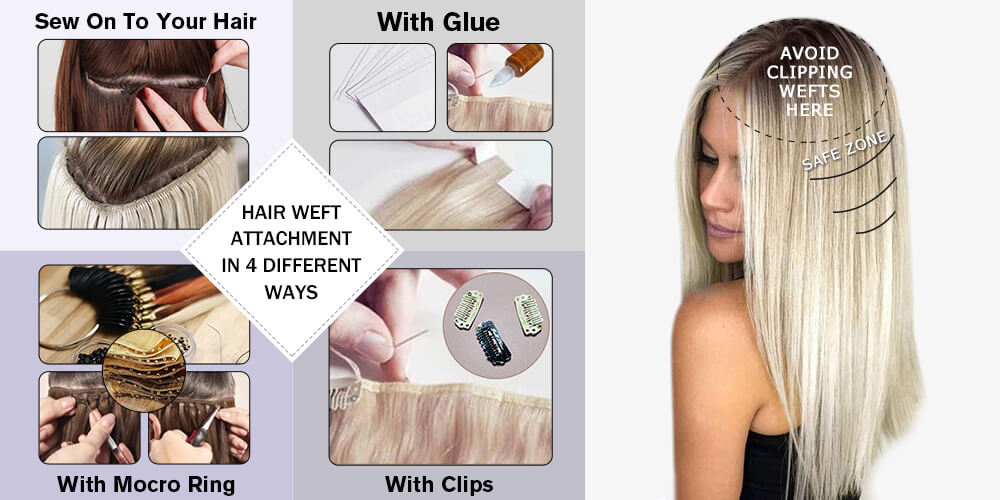 4 ways to wear hair weft
