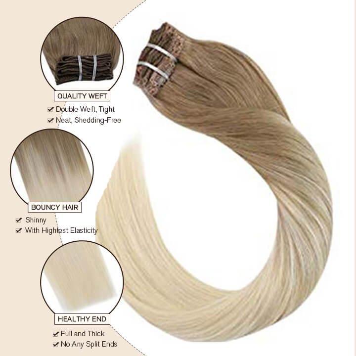 clip in hair extensions 7 pcs